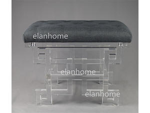 crystal acrylic bench  simple fashion clear perspex bench on sale
