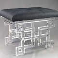 crystal acrylic bench