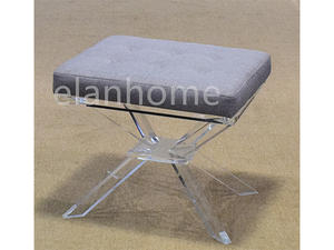 popular clear acrylic bench clear acrylic stool for home furniture