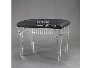 acrylic bench factory custom clear lucite bench
