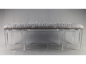 custom high quality acrylic long bench