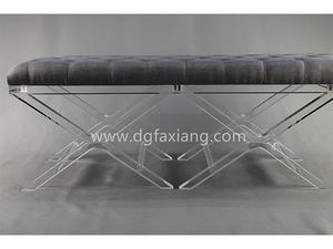 popular clear acrylic long bench supplier