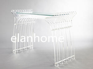 unique design white acrylic desk table on sale fashion