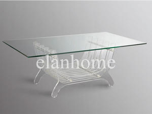 unique design clear acrylic long coffee table on sale fashion lucite table