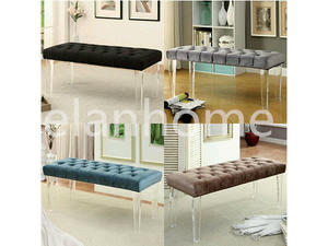 fashion popular clear acrylic long bench wholesale acrylic bench