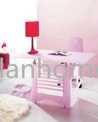 fashion popular pink acrylic desk table
