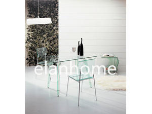 green acrylic table with tempered glass top