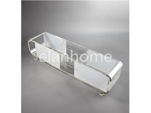 fashion acrylic TV stand acrylic TV stand with metal