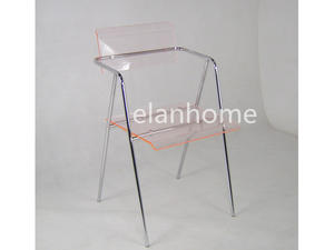 Pink Lucite Arm Chair