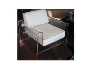 acrylic arm sofa chair