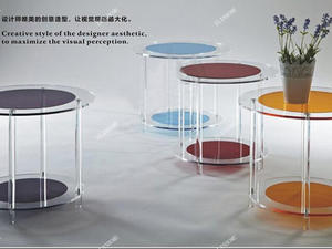 fashion popular acrylic round side table wholesale acrylic round coffee table