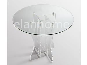 Acrylic Round Table With Glass Top