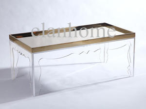 popular long coffee table with acrylic laser leg on sale moder table