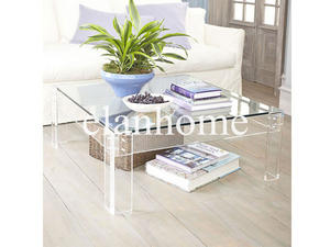 high quality crystal acrylic sofa table square crystal table
