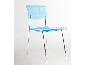 Fashion Blue Lucite Dining Chair