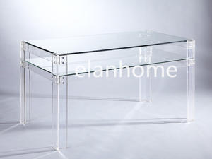 Simple Dinning Table With Clear Acrylic Legs