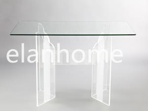 Easy Clean Crystal Acrylic Long Dining Table