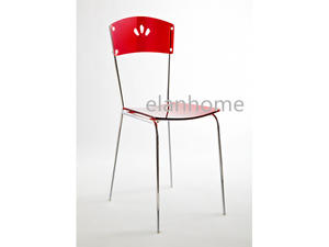 simple red acrylic dining chair on sale