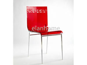 fashion red acrylic dining chair modern  acrylic dining chair