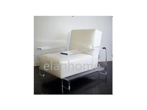 clear acrylic arm sofa chair lucite sofa chair