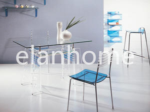 dinning table with crystal acrylic leg