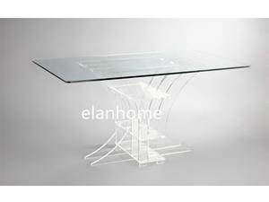 diy modern clear lucite dining table acrylic table with tempered glass top