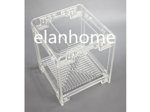 Crystal Classical Acrylic Side Table, Clear Acrylic Table, Clear Acrylic Accent Table, Clear Side Table