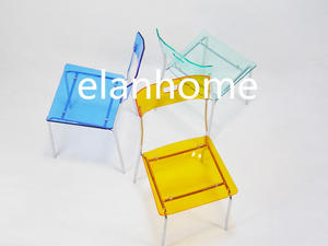 Acrylic Chair With Metal Leg For Dining Room