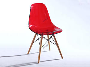 Eames Acrylic Chair With Wood Base Legs