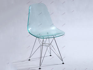 Eames Acrylic Chair With Chromed Legs