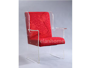 Fashion Acrylic Sofa Chair With Fabric Cushion