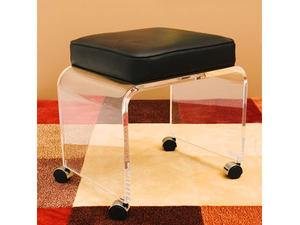 crystal lucite stool acrylic stool with rolling