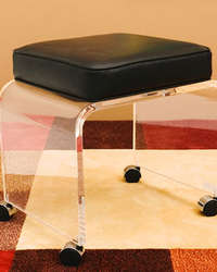 crystal lucite stool