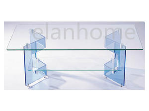 Easy Clean Bule Lucite Coffee Table For Dining Room