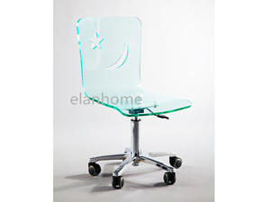Acrylic Adjustable Height  Office Desk Chair
