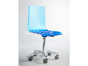 Acrylic Adjustable Height Swivel Office Chair