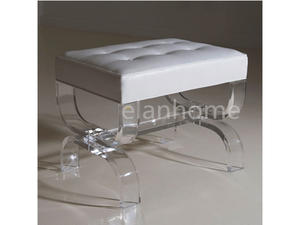 clear lucite bench for sale acrylic U ottman