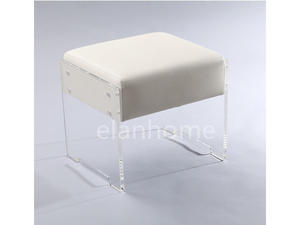 simple KD acrylic vanity stool manufacturers from DongGuan