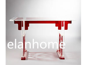 classical acrylic console table--red+clear