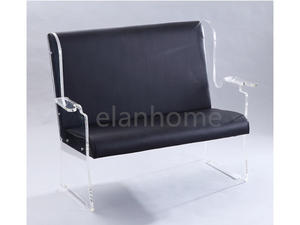 plexiglass sofa chair with PU cushion sofa chair with acrylic stand from china factory
