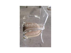 crystal acrylic arm sofa chair clear plexiglass arm chair with cushio