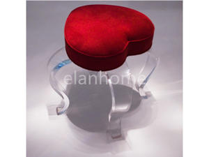 Heart Lucite Bar Stool