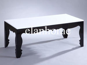 white -black acrylic console table