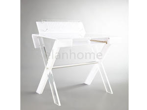 modern popular custom white acrylic desk table whoslesale  desk table