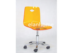 perspex desk chair acrylic adjustable height swivel office desk chair