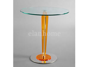 high quality lucite legs with tempered glass top side table from china factory