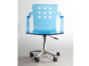 blue acrylic desk armchair