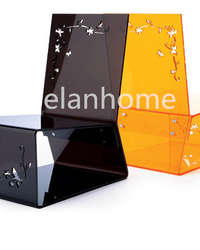 laser-carved lucite chair