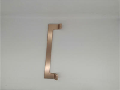 aluminium door handle-anodizing rosegold