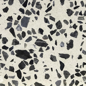 High Quality Diamond Black Terrazzo Tiles Supplier-WT219